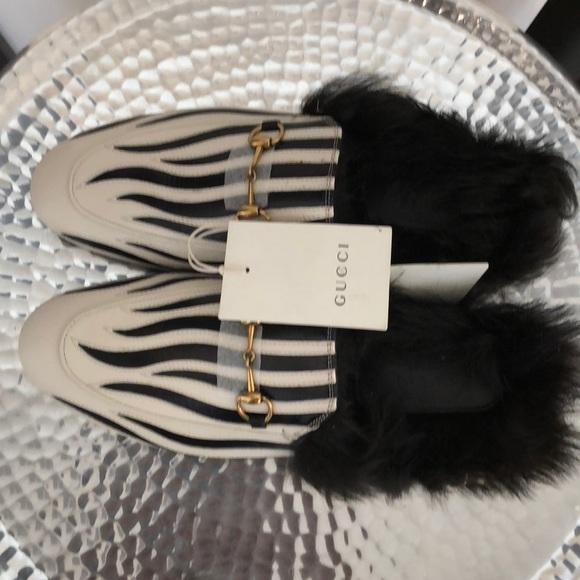 Gucci Shoes - Gucci zebra Princeton's slipper.